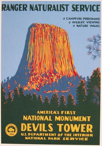 Devils Tower NHA I Devils Tower WPA Poster