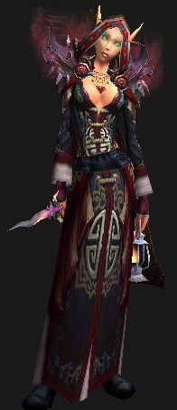 Cloth Transmog - Cowl of Tirisfal - Female Blood Elf