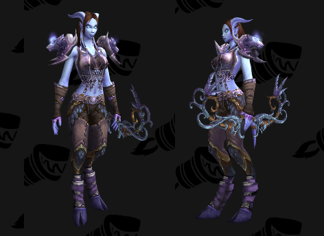 Mail Transmog - Mantle of the Sea Wolf - Draenei
