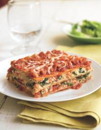 Three Cheese Spinach Lasagna