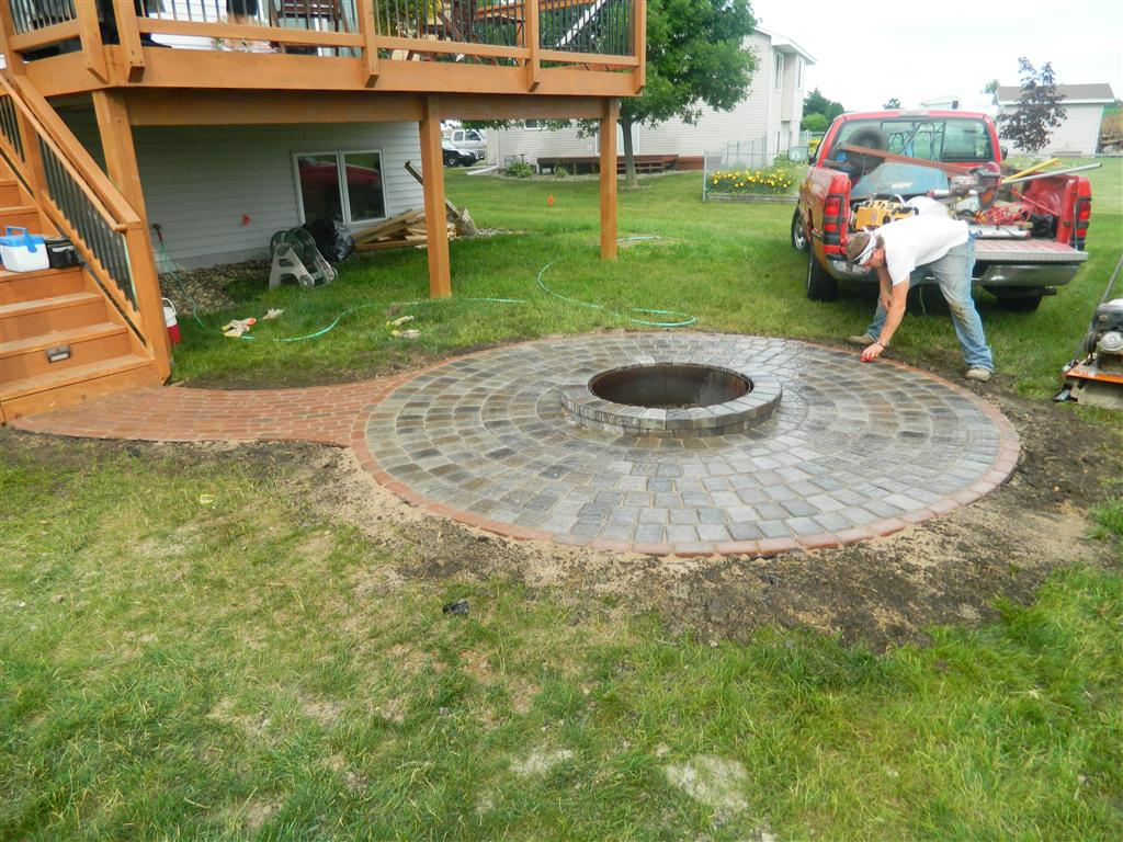Stone fire pit ideas Rosemount, MN | Devine Design Hardscapes on Paver Patio Designs With Fire Pit id=33663