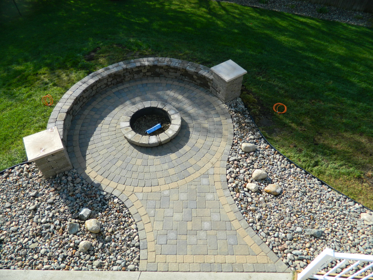 Stone fire pit ideas Rosemount, MN | Devine Design Hardscapes on Pavers Patio With Fire Pit id=52417