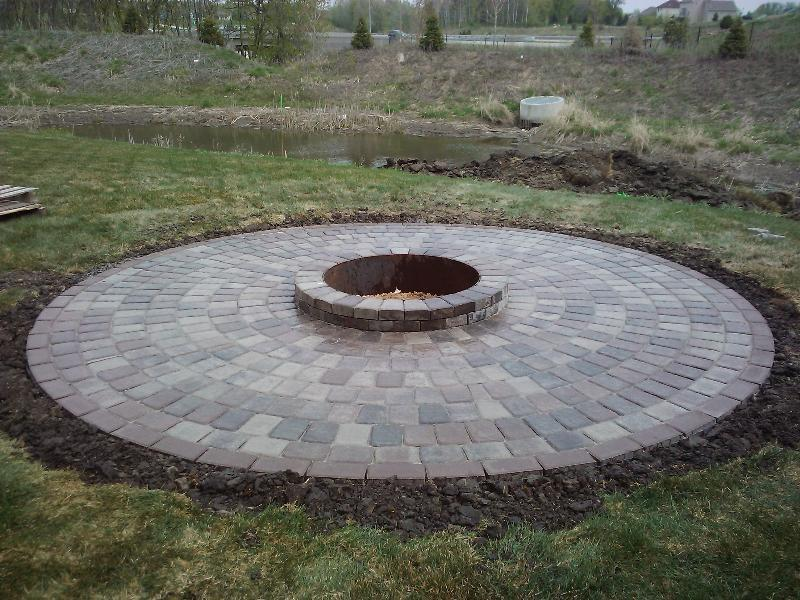 Stone fire pit ideas Rosemount, MN | Devine Design Hardscapes on Paver Patio Designs With Fire Pit id=61953