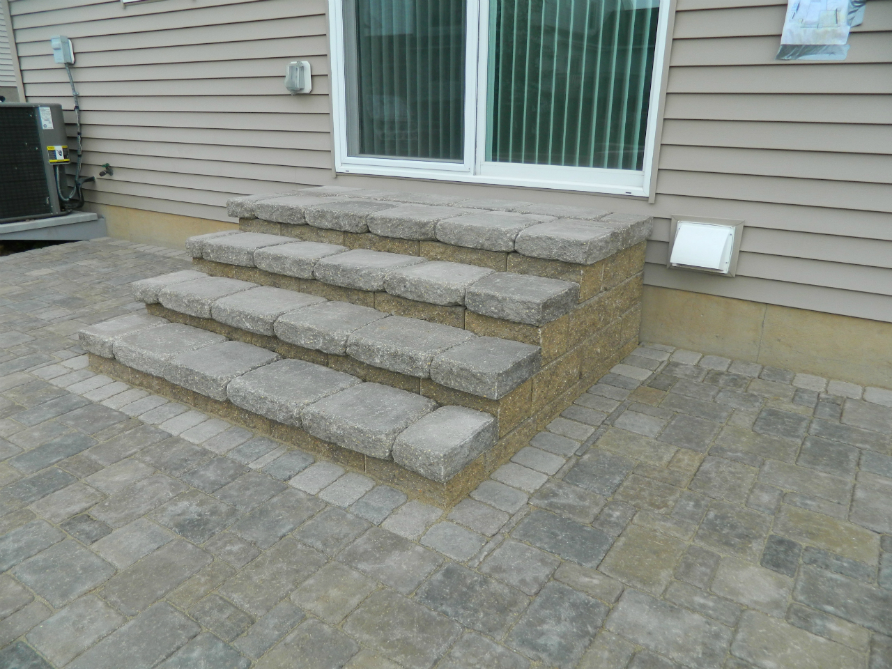 Brick And Block Stairs Devine Design Hardscapes
