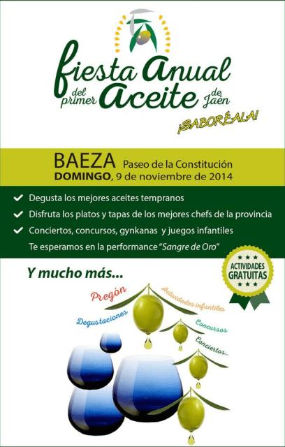 Fiesta Anual del Primer Aceite de Jaén, Baeza 2014. Fuente: Diputación de Jaén