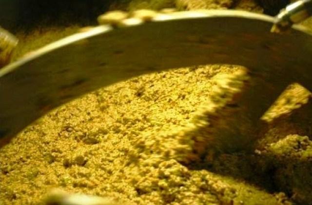 Fase de molienda y batido en la elaboración del AOVE. Fuente: Sabor artesano
