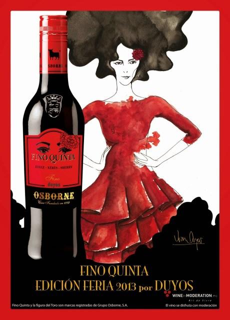 Cartel publicitario Fino Quinta. Fuente [en linea]: www.diariodevinos.com