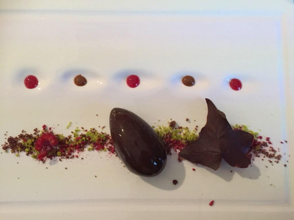 devinos con alicia coque cremoso de chocolate y menta con frutas exóticas