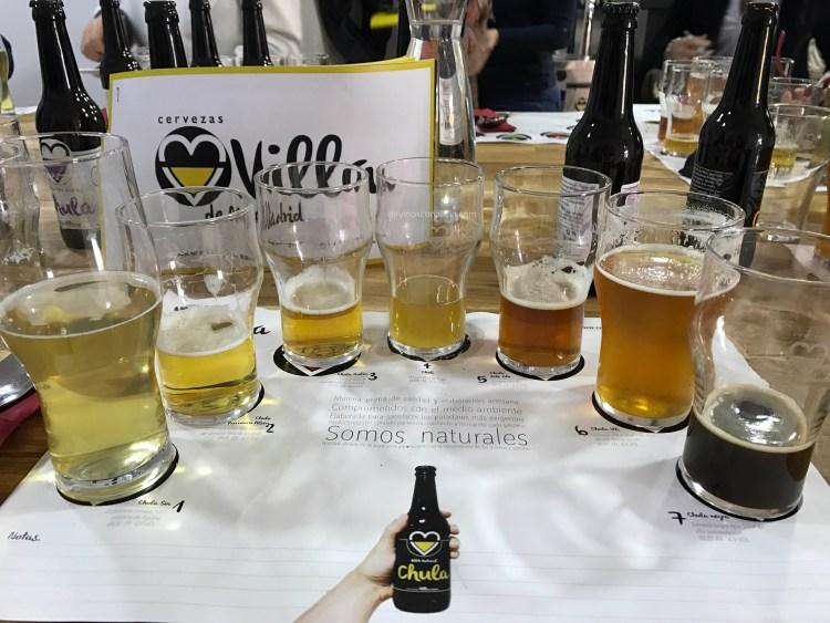 Cata de Cervezas Villa de Madrid/ Cerveza Chula. Copyright: devinosconalicia.com