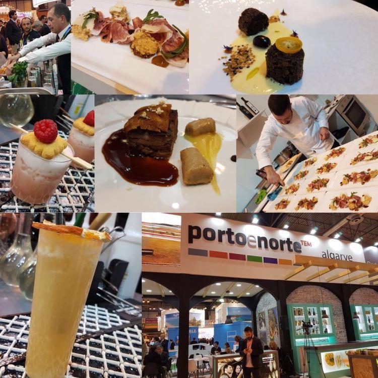 Gastronomía en el stand de Porto e Norte de Portugal y Algarve. Copyright: www.devinosconalicia.com