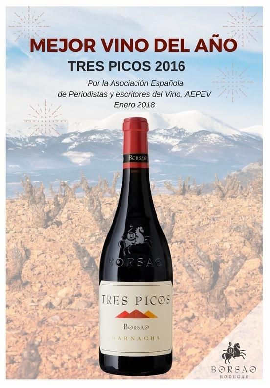 Mejor vino del año 'Tres Picos 2016'. Copyright: Bodegas Borsao