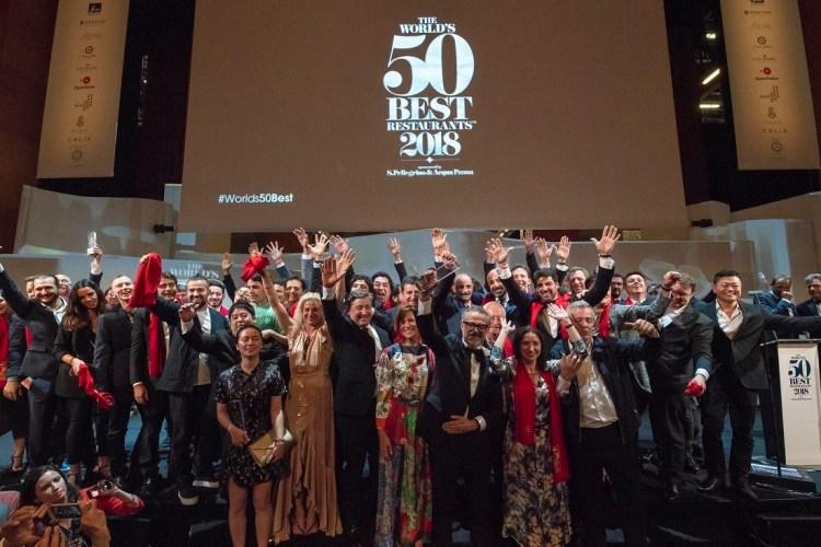 Foto de familia The World´s 50 Best Restaurants 2018