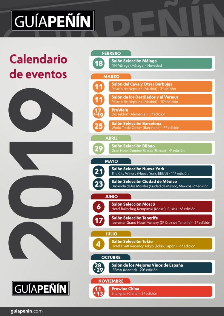 Calendario Guía Peñín 2019