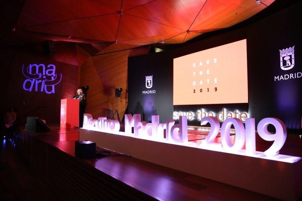 Manuela Carmena presentando el nuevo programa de eventos. Fotografía: Ayuntamiento de Madrid