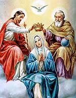 [La coronación de la Virgen María]
