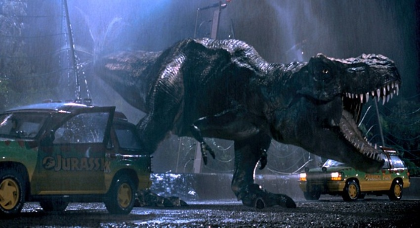 the t rex in jurassic park