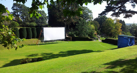 Al fresco screen magic at Dartington Hall Gardens