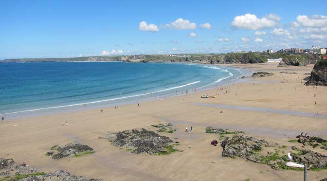 Towan Beach, Newquay Cornwall UK by Proper Handsome used under the Creative Commons Attribution-Share Alike 3.0 Unported licence.