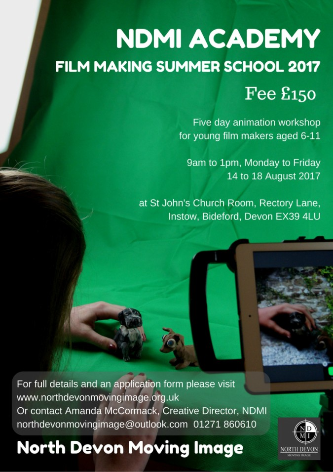 Stop motion workshops for young people in North Devon