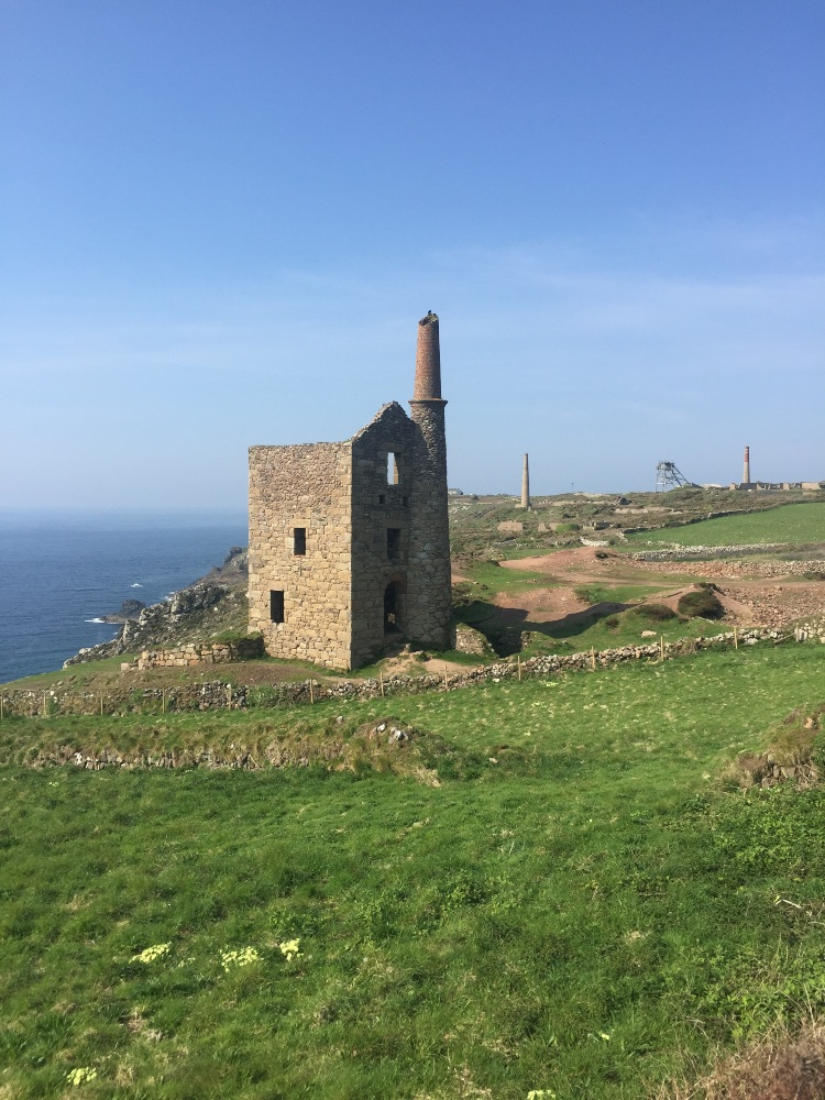 a tin mine on the Cornish coast