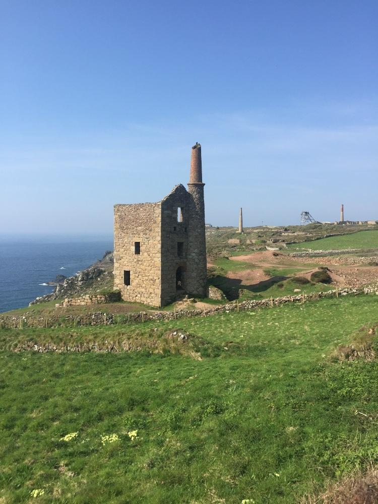 a tin mine on the Cornish coast