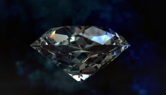 a precious looking diamond with a black background