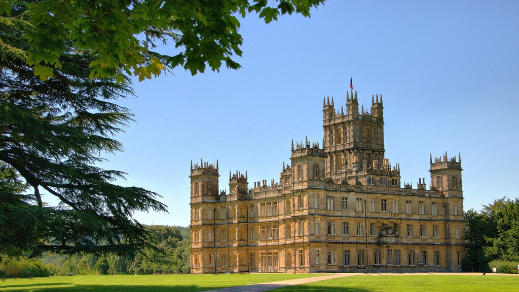 highclere castle, an imposing location of a square stately home