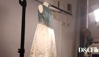a vivien leigh dress being photographed