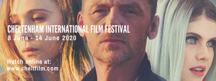 three still images of faces with the Cheltenham film festival dates