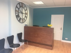 The Devon Clinic reception therapy rooms to rent