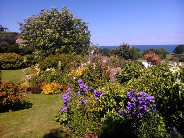 Garden in Full Bloom with sea views