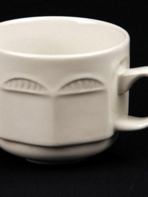TEA CUP WHITE CROCKERY