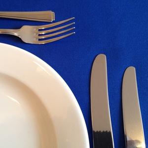 """ROYAL BLUE LINEN TABLECLOTH 90"""" x 90"""""""