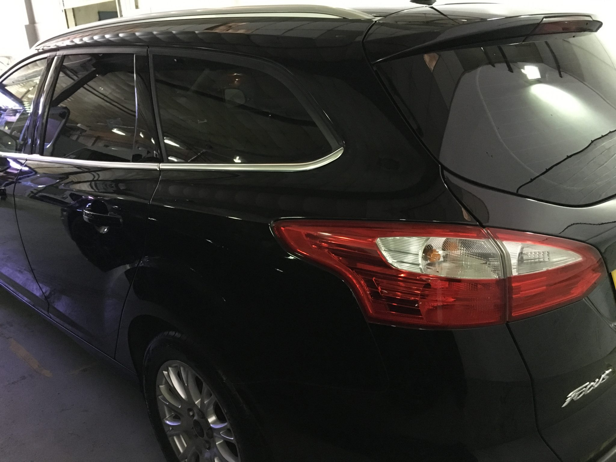 Ford Focus Window Tinting Limo Black