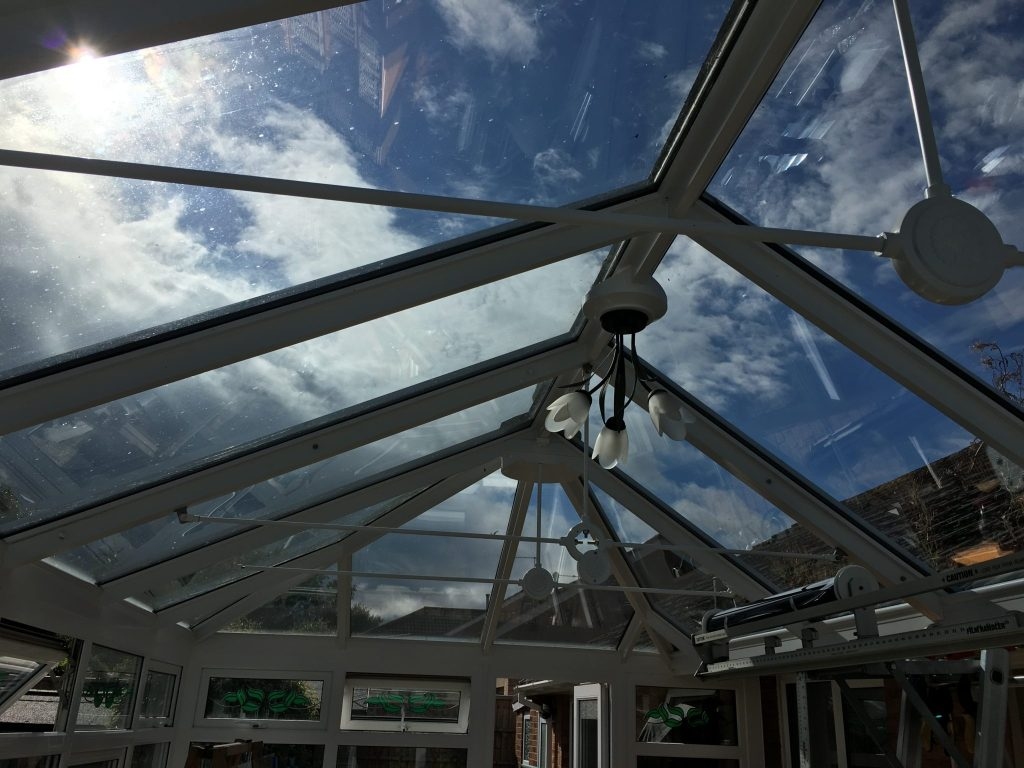 Conservatory Glare Reduction Prior to Window Film Installation