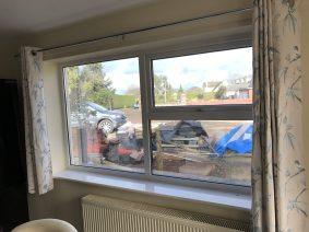 Silver Reflective Window Film Kitchen View