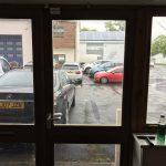 Matte Frost Window Film before install