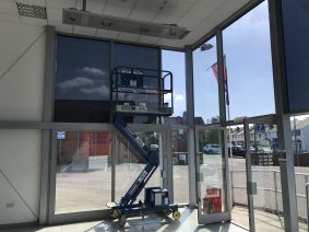 Powered Platform for Window Film Removal