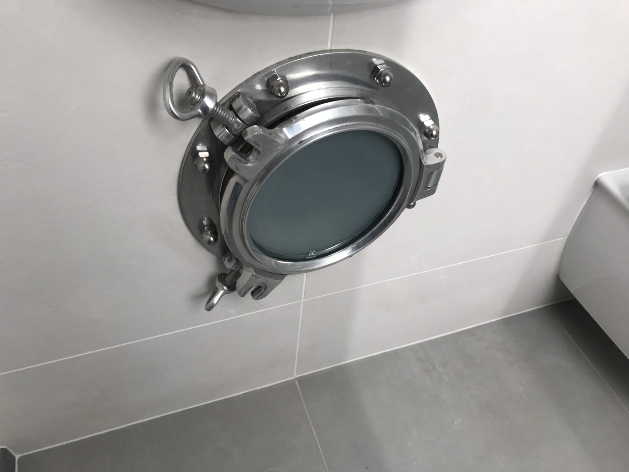 Frosted Bathroom Portholes