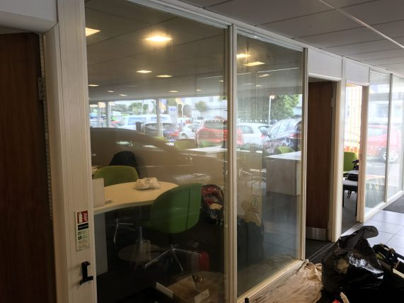 Showroom Frosted Film before application