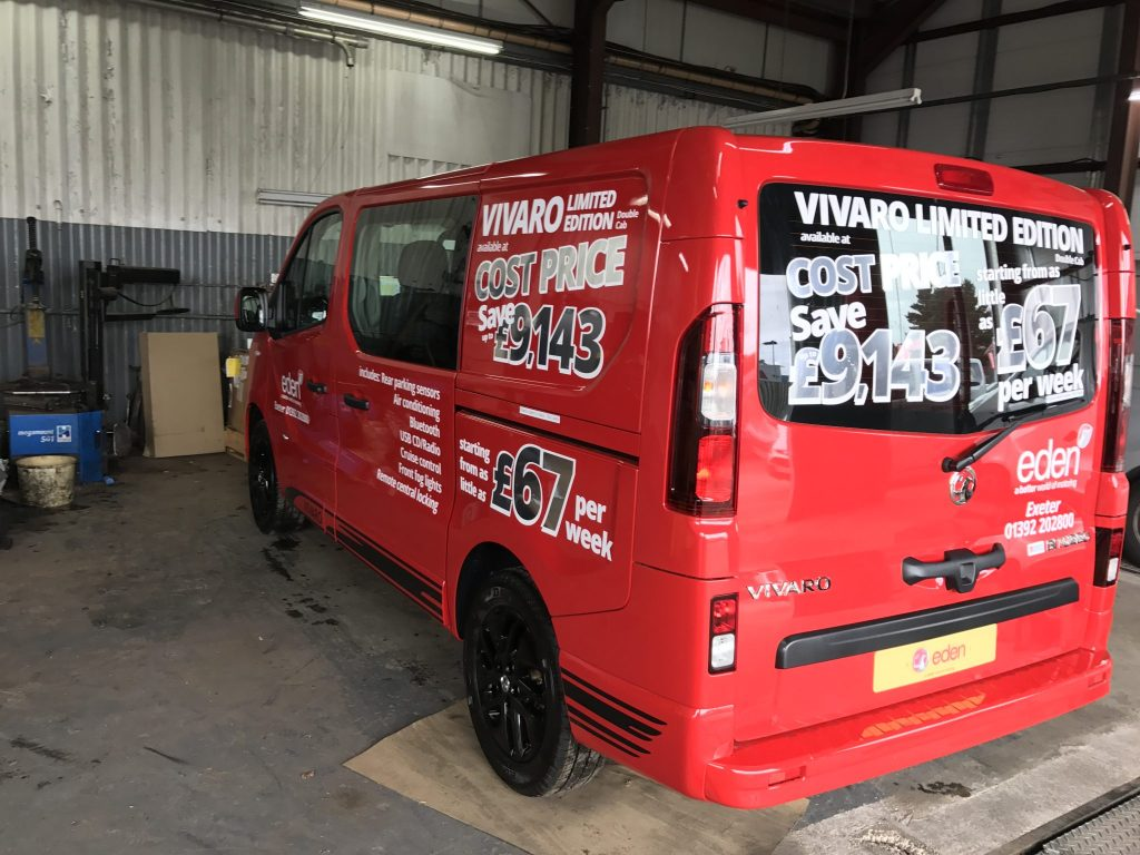 Vauxhall Vivaro Double Cab Window Tint