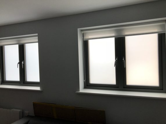 Frosted Privacy Film Exeter internal view