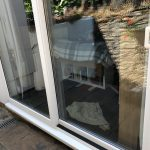 Before privacy film is installed - B&B in Brixham