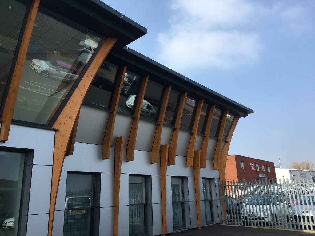 Johnson NightScape window film for maximum glare reduction at these offices Sowton, Exeter
