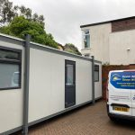 Dainton portable building Frosted Privacy Film