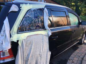 Zafira Smashed Side Window