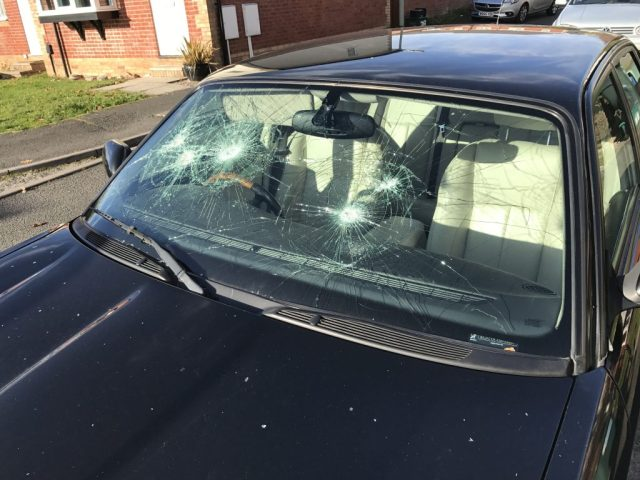 Vandals Smash Windscreen