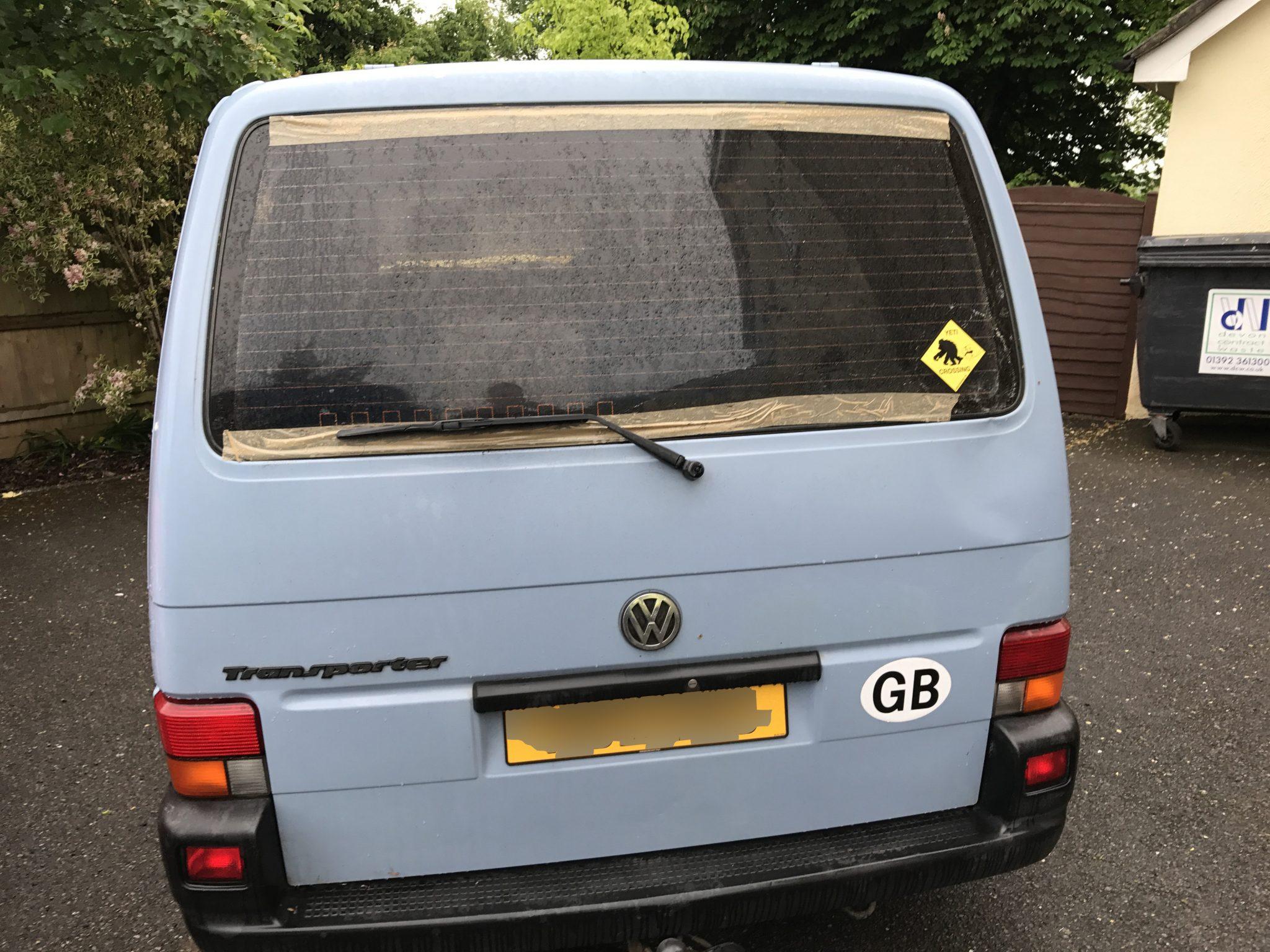 Shattered Transporter Rear Window