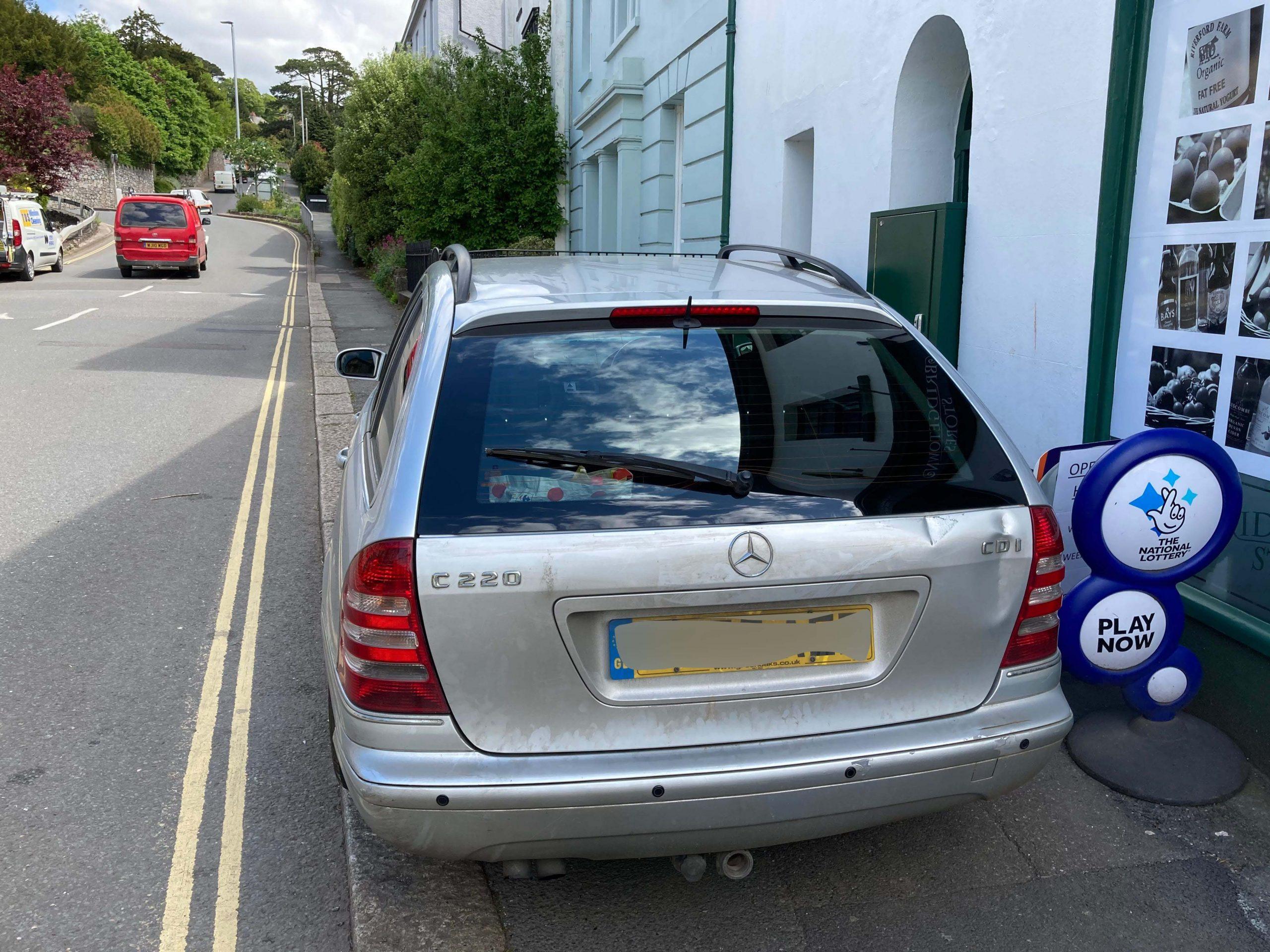Mercedes C220 Rear Window