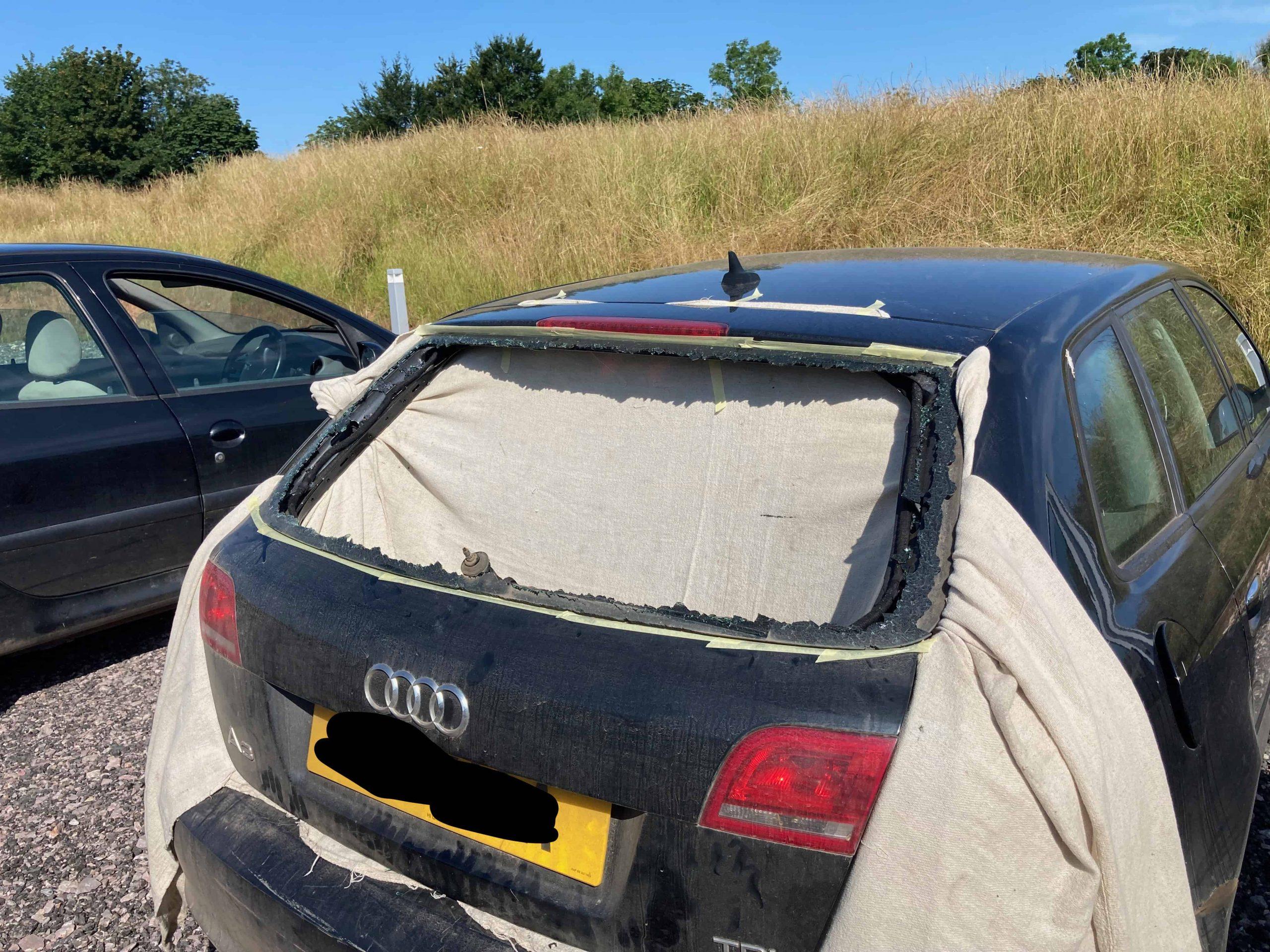 Audi A3 Smashed Rear Window